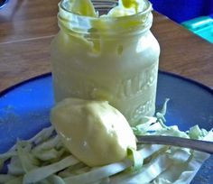 Healthy Mayonnaise-Homemade mayo is packed with protein and good fats, and tastes incredible from WellnessMama.com #mayo #healthy #wellnessmama