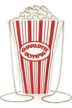 Charlotte Olympia|Movie Night embroidered leather shoulder bag