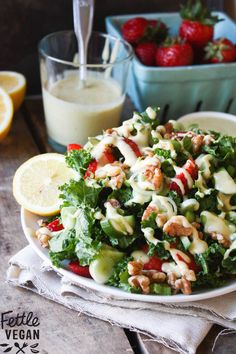 salad with miso-walnut dressing | Yummy Food | Pinterest | Kale Salads ...