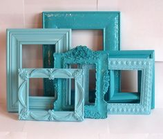 Shades of Turquoise & Aqua, perfect for my bedroom!