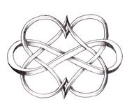 Two hearts forever tattoo inspiration @Eric Lee Lee Lee Lee Lee Lee Cook. I like this as an idea for a matching tattoo.