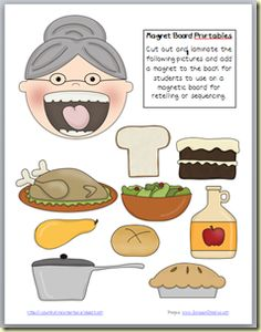 Printables for There Was an Old Lady Who Swallowed a pie