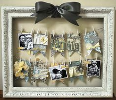 """Picture Frame display for items you can clothespin- do this but put a picture of each leader on a flag- put """" prayer"""" on a banner above b. m."""