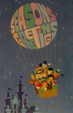 The 1966 Walt Disney Company Christmas card.