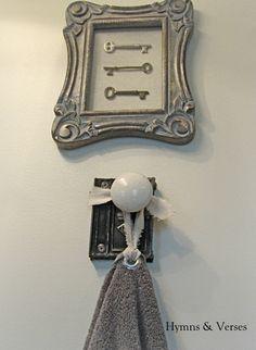 Old Door Knob Hardware - Hand Towel Holder