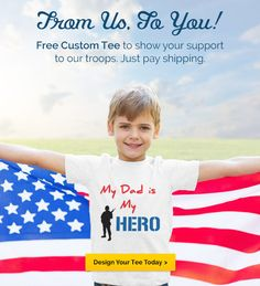Support our military with a free custom t-shirt thanks to BuildASign & Allied Shirts! More military resources at www.operationwearehere.com!
