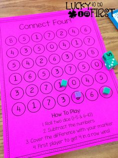 Connect Four! Addition & Subtraction math game FREEBIE!