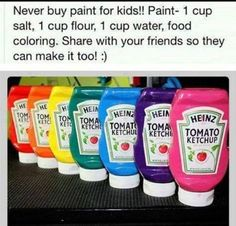 How to make your own paint for kids