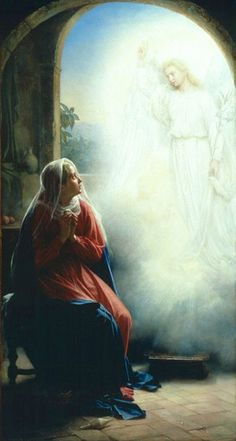 An Angel appears to Mary explaining to her she would bear a child by the power of the Holy Spirit. by Waiting For The Word, via Flickr
