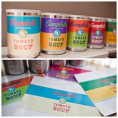 ... pop art display. Or students could make soup/food labels and glue them