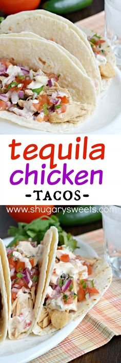 Chipotle Pulled Beef Tacos with Greek Salsa + Avocado Crema | Receita ...