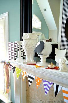 Free Halloween Pennant Printables!! -- Tatertots and Jello #DIY #Halloween #Printables