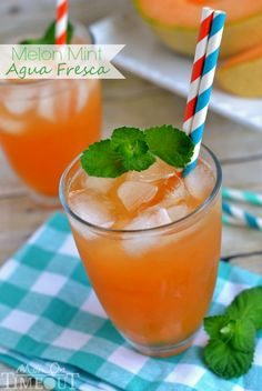 flavors of melon and mint in this tasty Melon Mint Agua Fresca ...