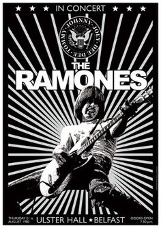 The Ramones Concert Poster #music #concert #design