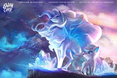 Hi  let  me introduce the Beautiful Alola Ninetales and Vulpix see the speedpaint on my youtube channel www.youtube.com/watch?v=Jwh3gN… suscribe and comment for more material ...