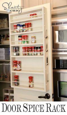 Easy DIY Pantry Door Spice Rack - oh.my.god.yes. yes!!!!!
