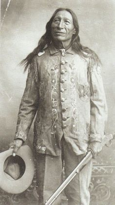 Iron Tail - Oglala - circa 1915 {Note: Sinte Maza (aka Iron Tail) was an Oglala Lakota man who fought at the Battle of the Little Big Horn in 1876. He also performed with Buffalo Bill's Wild West Show during the 1890's and with the Miller Brothers 101 Ranch Wild West Show near Ponca City, Oklahoma from 1913 to 1916. He died of pneumonia on 28 May 1916 while traveling by train to South Dakota. He was one of three models for the Indian Head Nickel designed by James Earle Fraser.}