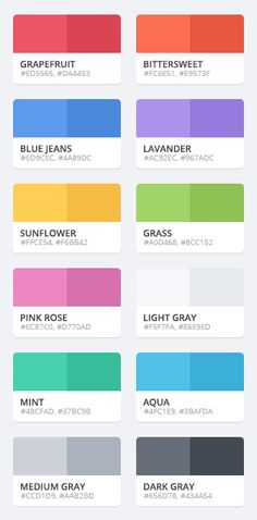 blog website color palettes