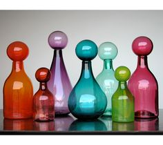 gorgeous glass jars