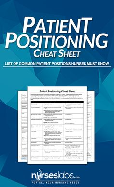 Patient positioning nclex cheat sheet here s a list of the common