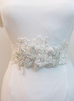 Vintage brooch sash black fabric flower sash for bride wedding sash