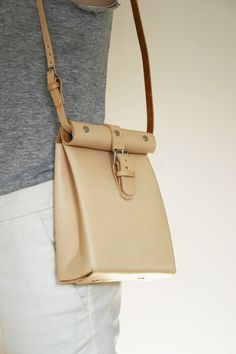 leather roll top bag, Chloe Stanyon