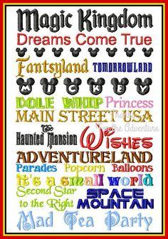 Walt Disney World Magic Kingdom Subway Art by Thanks4TheAdventure