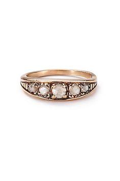 Rose-Cut Diamond Band in 14k Rose Gold by Arik Kastan #abthroregistry