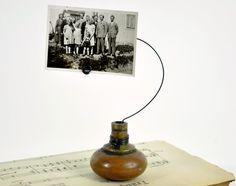 old door knob picture holder
