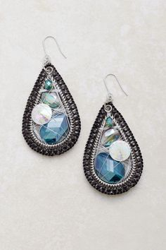 Vitrail Fale Crystal Teardrop Earrings | Emma Stine Jewelry Earrings