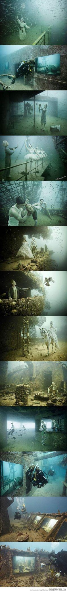 Underwater museum in Cancun