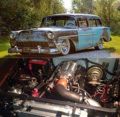 56 Chevy wagon sleeper..