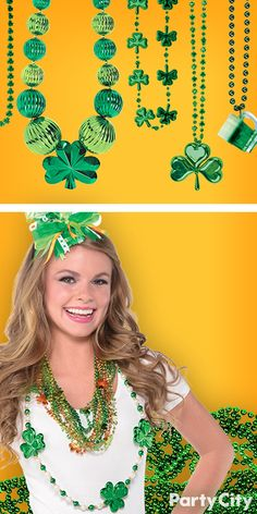 Every lad and lassie needs to dress for this grand occasion! Grab a pot full o' beads at Party City and rock out with our wide selection of St. Patrick's Day beads. Shamrocks, leprechauns, all the colors of the Emerald Isle available!