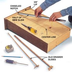Tools For Reinforcing Sagging Drawer Bottoms Tutorial By Jewels At