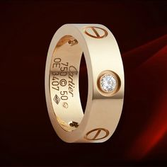 Cartier Love Ring Rose gold with diamonds  $ 39.99