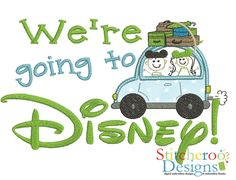 Going to Disney Car applique embroidery design by Stitcheroo Designs