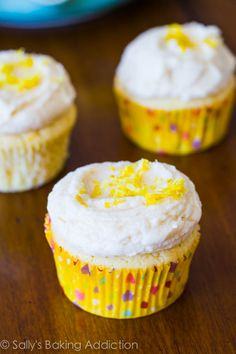 Never buy lemon cake mix again! These Lemon Cupcakes are the best-ever (and many agree!). Straightforward recipe, only taking 30 minutes.