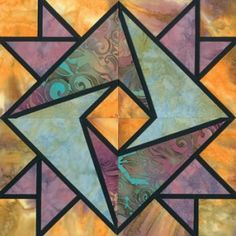 Stained Glass Clasped Hands Quilt Block Pattern