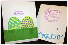 #Papercrafting in 20: Easter Cards Giveaway Post. Check out the fun #Easter #card made by Suzi M. and her DGD - join in on our #PapercraftingInTwenty challenges and YOU could win fab papercrafting prizes!