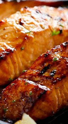 Grilled Browned Butter Honey Garlic Salmon