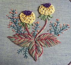 Nice use of variegated embroidery threads