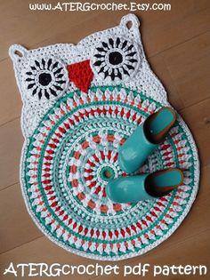 Crochet pattern OWL RUG by ATERGcrochet - XL crochet