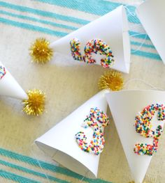 Sprinkled Mini Party Hats