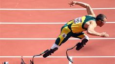 Oscar Pistorius of South Africa qualified for the men's 400m semi-finals ~ London 2012 Olympics