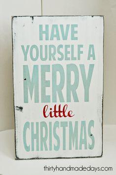 merry little Christmas...