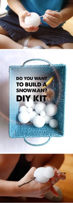 """Quiet time, """"Do You Wanna Build a Snowman?"""" kit - my little frozen fans are gonna love this :)"""