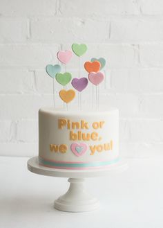 Heart/love theme :Pink or blue, we love you. Great for Valentine