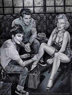 rockabilly tattoo art