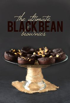 The Ultimate Black Bean Brownies   Minimalist Baker   #recipe #vegan #glutenfree   *Substituting the oil for 1/2 cup of unsweetened applesauce, which I'll do, will drop the calorie count by 15 per brownie. Lower the amount of sugar to 1/3 cup, given the added sweetness from the applesauce, and reduce the calorie count by an additional 10 per brownie.