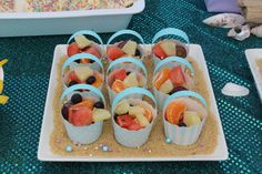 Fruit cups at a Mermaid Party #mermaid #party